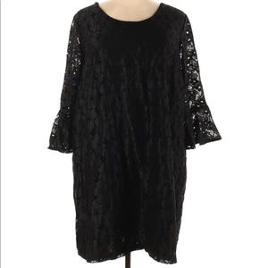 Alice & You Bell Sleeve lace black dress